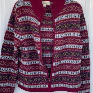 Cabela's full zip cardigan sweater
